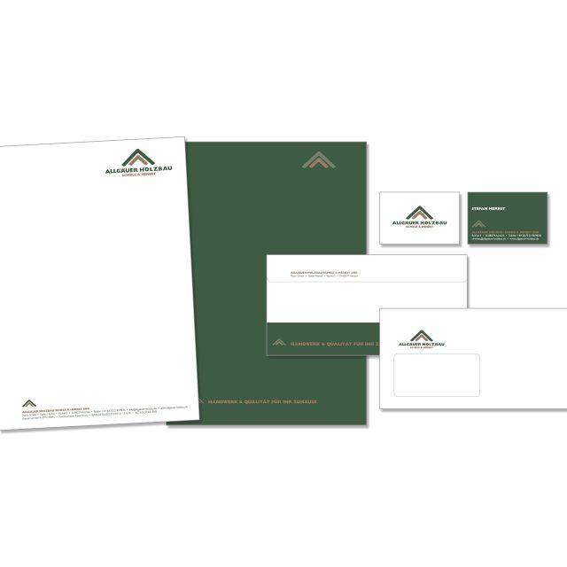 hartmann. studio für marketing. design. public relations. I Geschäftsausstattung I Allgäuer Holzbau
