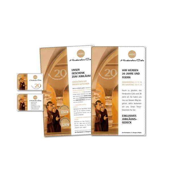 hartmann. studio für marketing. design. public relations. I Promotionkampagne I Hinderofen Cafe